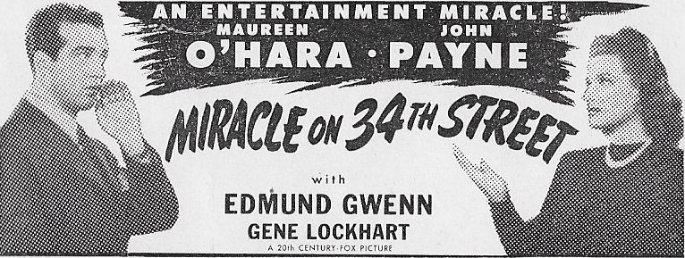 Miracle On 34th Street 1947 Banner