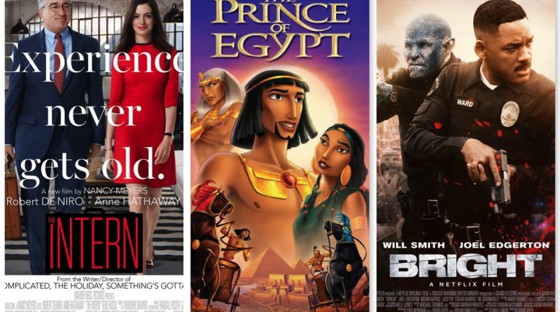 Reviews: THE INTERN, THE PRINCE OF EGYPT, and BRIGHT